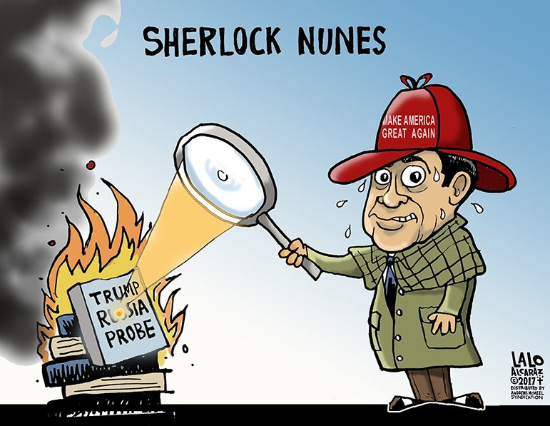 Image result for cartoon about devin nunes memo