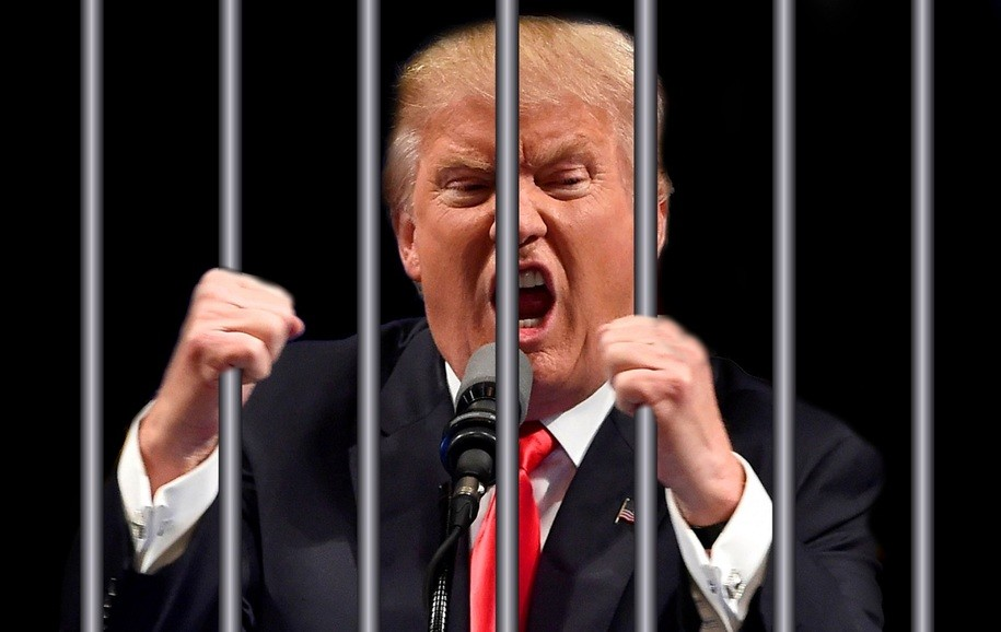 Image result for trump jail