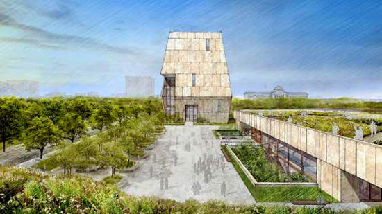 Sketch of the Obama Center and Presidential Library. May 3, 2017.
