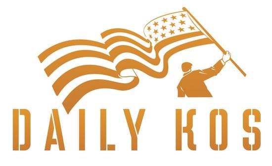 "Daily Kos ""Flag Guy"" logo"