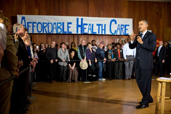 President Barack Obama delivers remarks at an Affordable Care Act event at Temple Emanu-El in Dallas, Texas, Nov. 6, 2013. (Official White House Photo by Pete Souza)