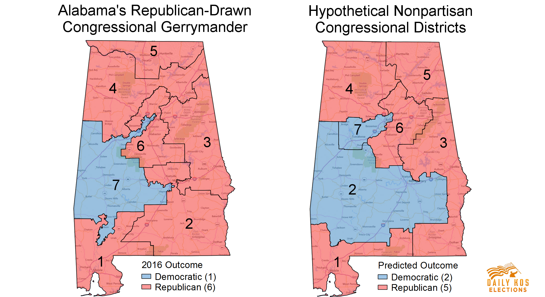 Here S What Alabama Might Have Looked Like In 2016 Without Gop