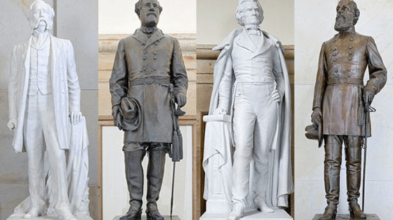 Gen. Wade Hampton, Gen. Robert E. Lee, John C. Calhoun, and Gen. Kirby Smith.