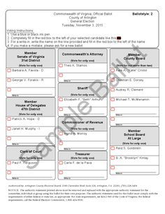 Virginia Beach Sample Ballot