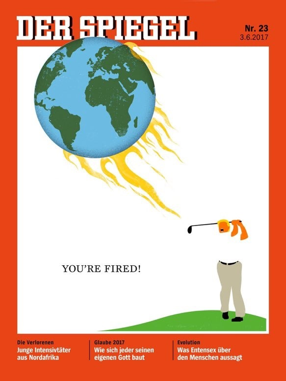 The New Cover Of Der Spiegel Tees Off On Trump And His Disastrous