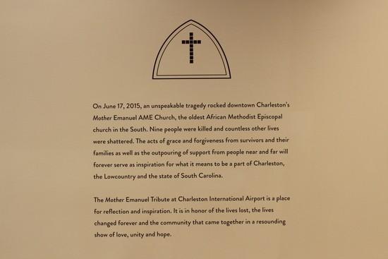Mother Emanuel display at Charleston, SC airport