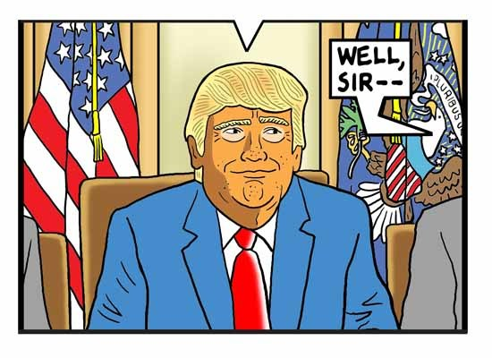 Cartoon by Tom Tomorrow - The honest cabinet
