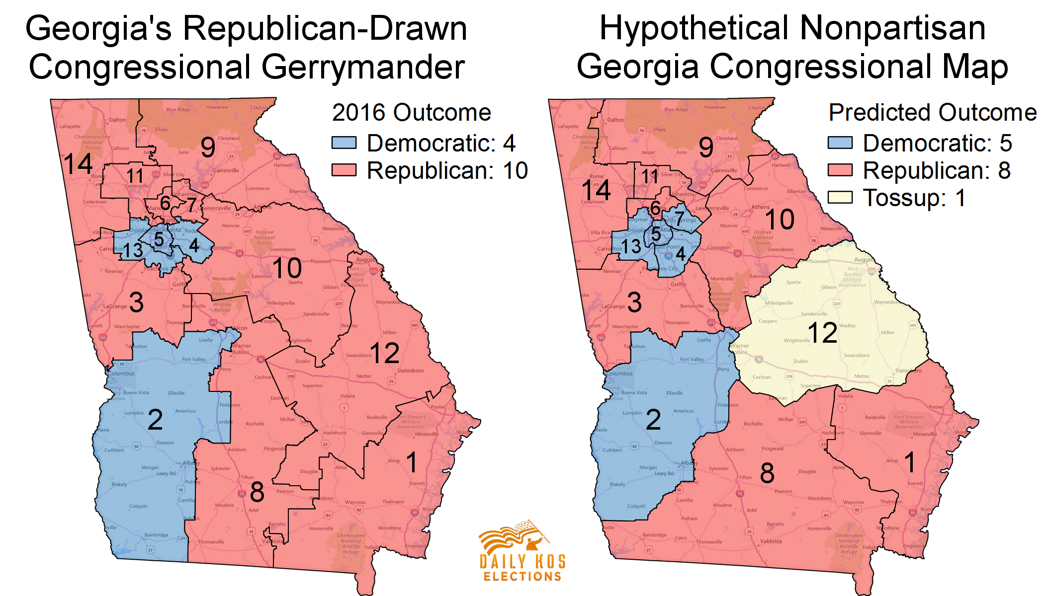 Map Of Georgia Congressional Districts.Here S What Georgia Might Have Looked Like In 2016 Without Gop