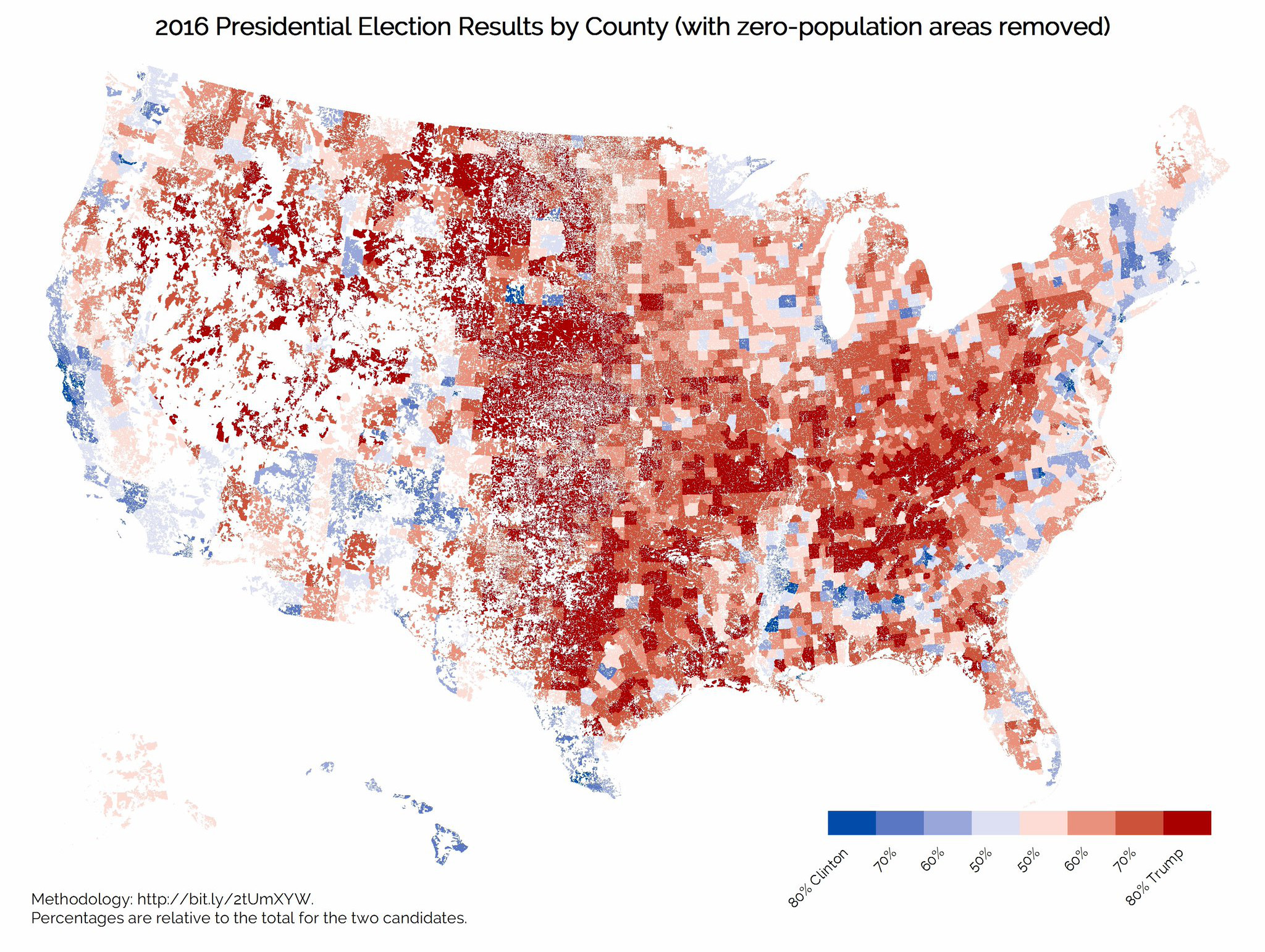 Heres What Trumps Favorite Election Map Looks Like Without - Us map minus uninhabited