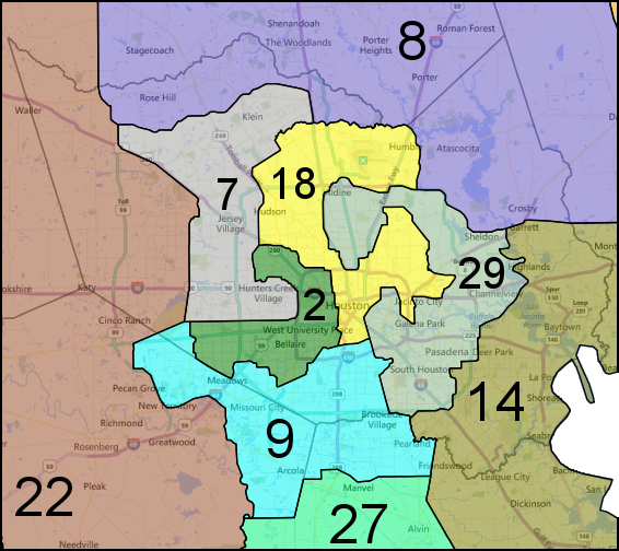 Map Of Texas District 7.Texas Gop Congressional Gerrymander Goes On Trial In July