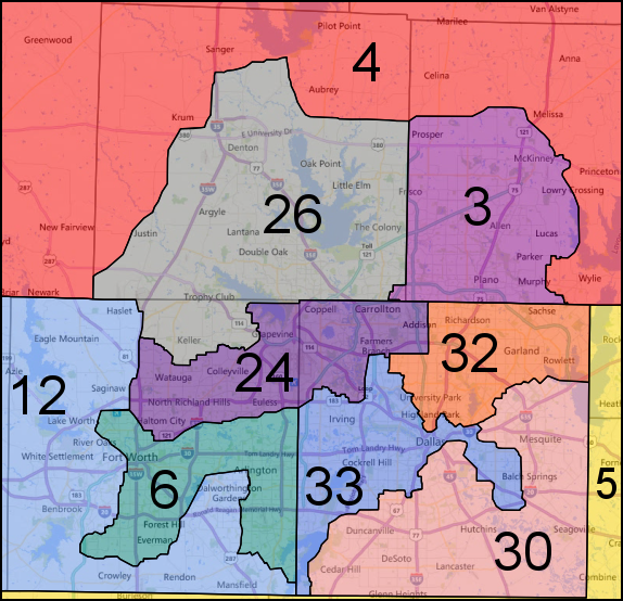 Map Of Texas District 6.Texas Gop Congressional Gerrymander Goes On Trial In July Here S