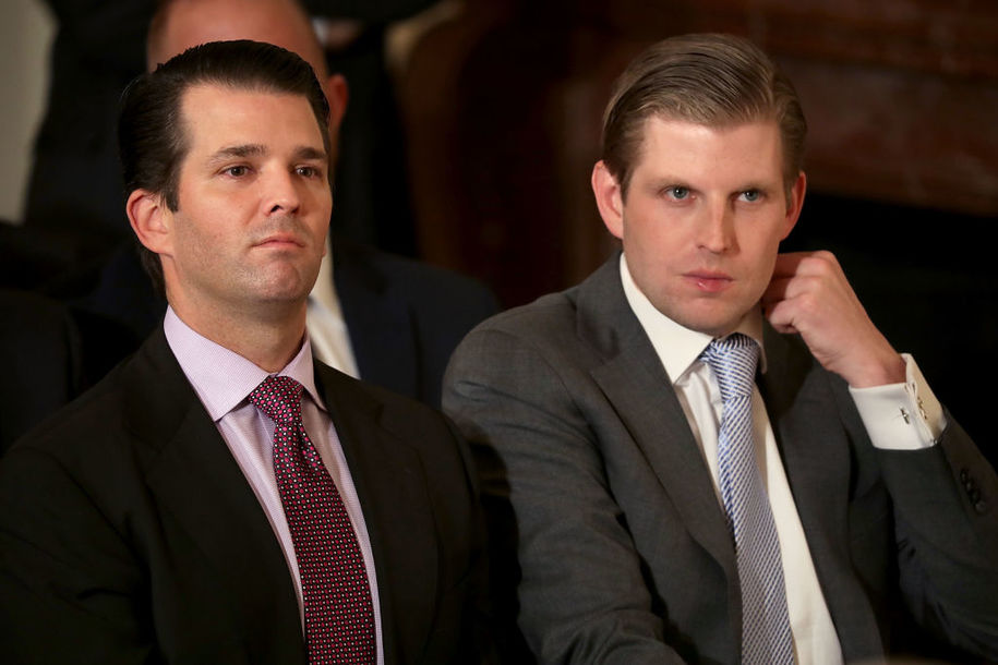 Like father, like sons: Eric and Don Jr. reportedly skipped out on Irish pub bill