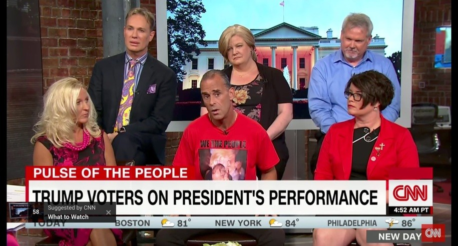 Trump voter panel on CNN New Day