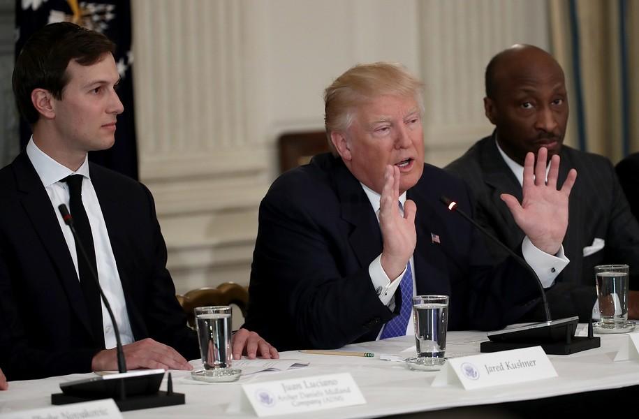 WASHINGTON, DC - FEBRUARY 23: U.S. President Donald Trump speaks during the  opening of