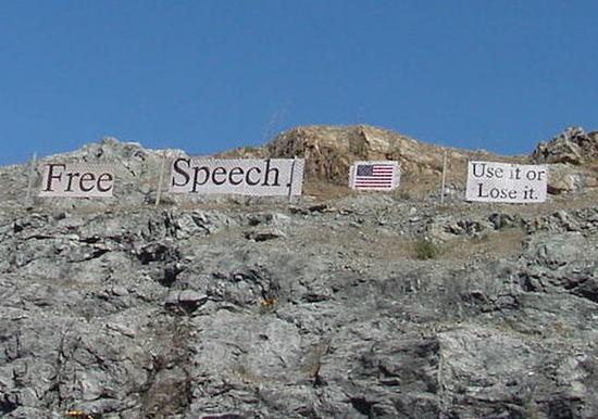 Free Speech: Use it or Lose it.