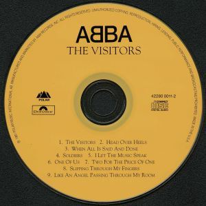 """The first CD ever printed---ABBA's """"The Visitors"""""""