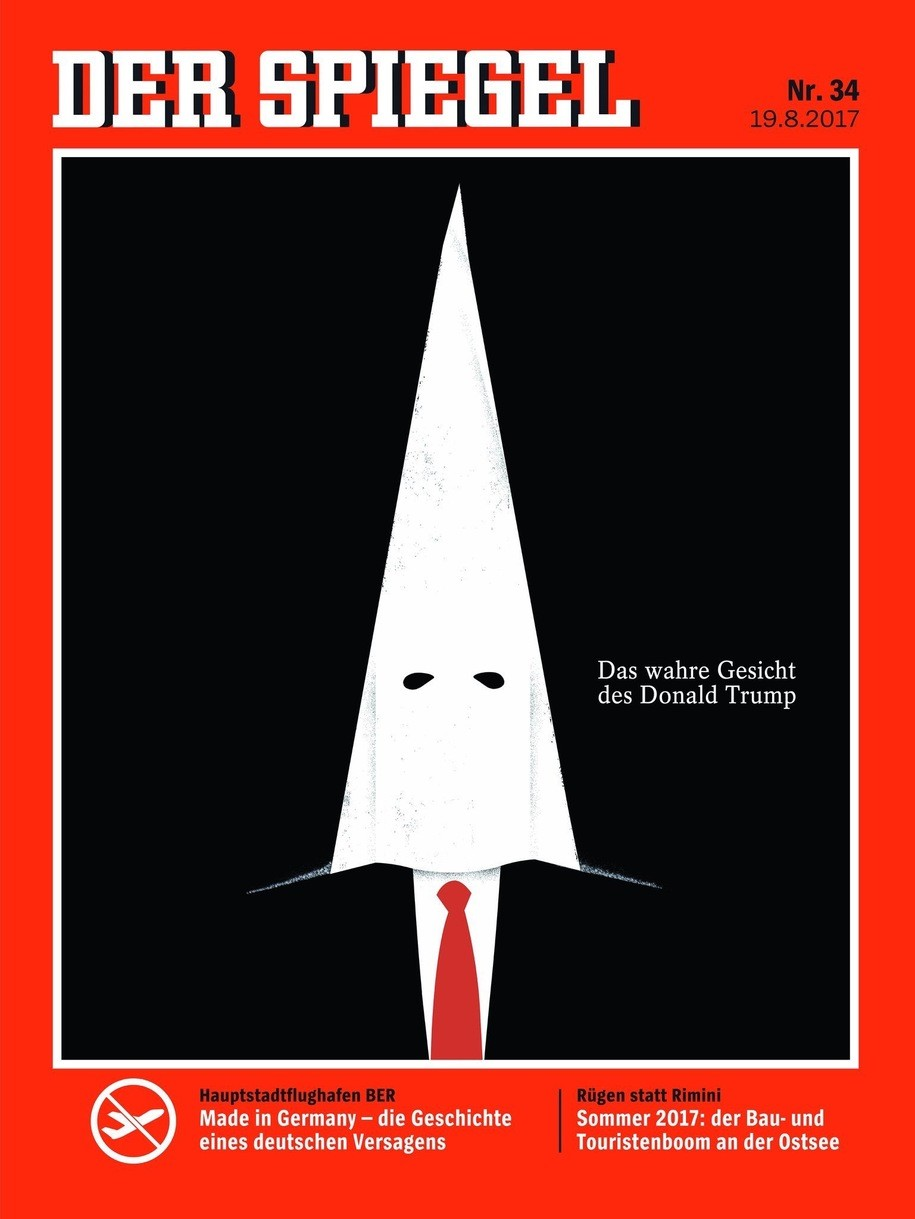 Der spiegel 39 s new magazine cover the true face of donald for Spiegel magazi