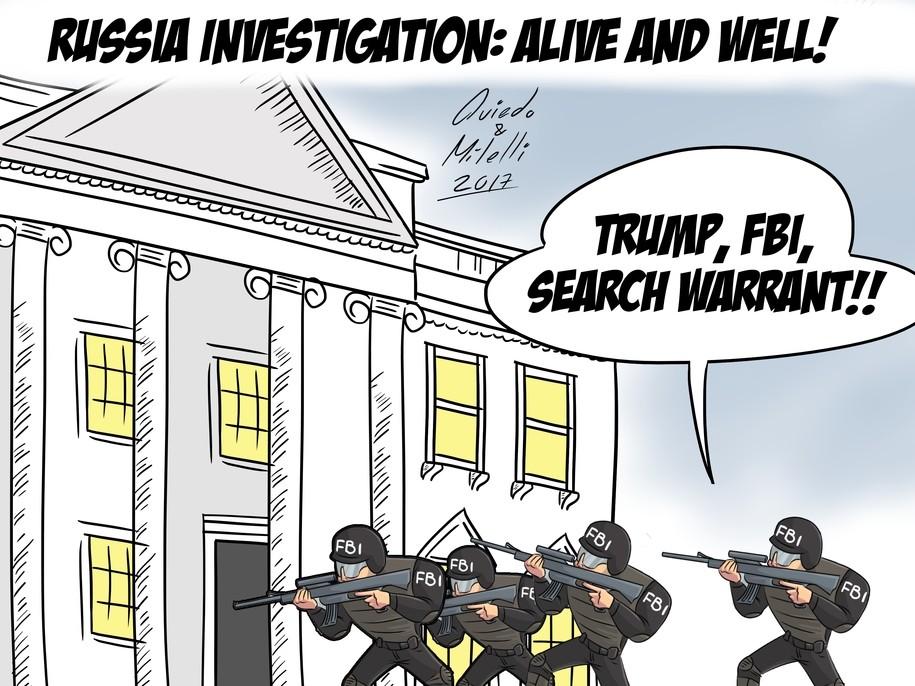 Image result for fbi raids cartoon