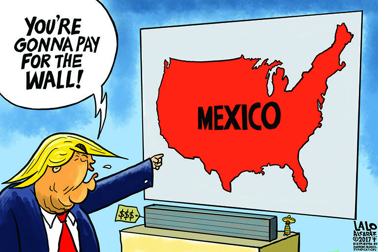 Cartoon: Mexico will pay for the wall