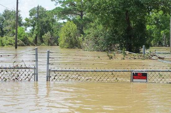 A superfund cleanup site flooded by Hurricane Harvey
