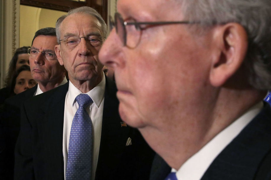 Moscow Mitch's boycott of doing legislation is angering one of his own, Chuck Grassley