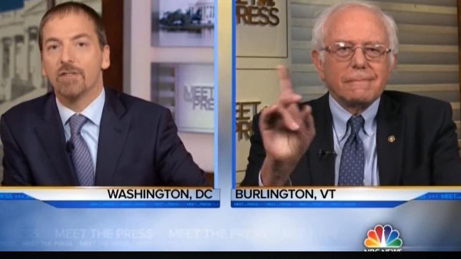 Bernie Sanders dismissed Chuck Todd snark & schools him on Medicare for all