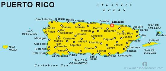 Feeding Puerto Rico: Puerto Rico Cities Towns Map At Slyspyder.com