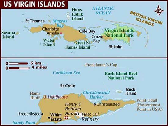 Are Trump The Media Ignoring The Us Virgin Islands Because Most - Map-of-us-virgin-islands-and-puerto-rico