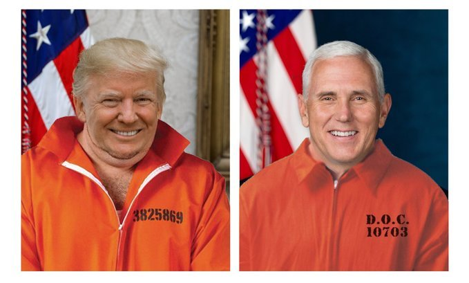 So they released the official portraits of Trump and Pence on Halloween...