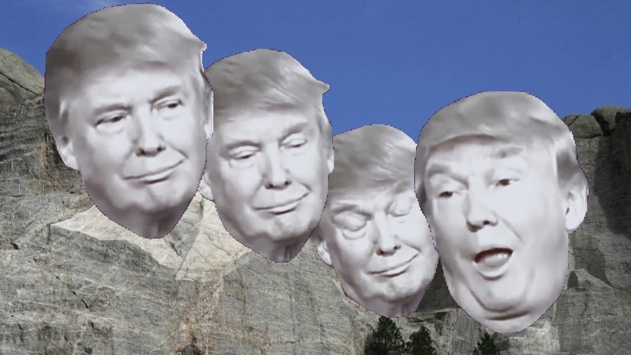 Trump thinks his face belongs on Mount Rushmore. No, seriously