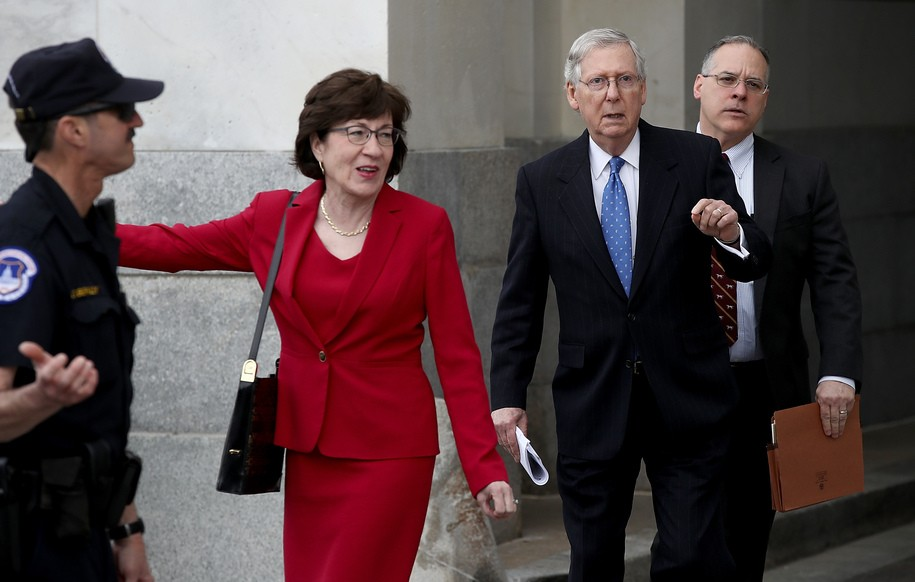Susan Collins takes up role as McConnell's tool again, this time on guns