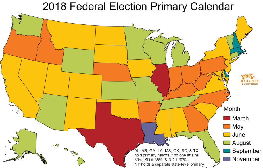 Federal Election Primary Calendar