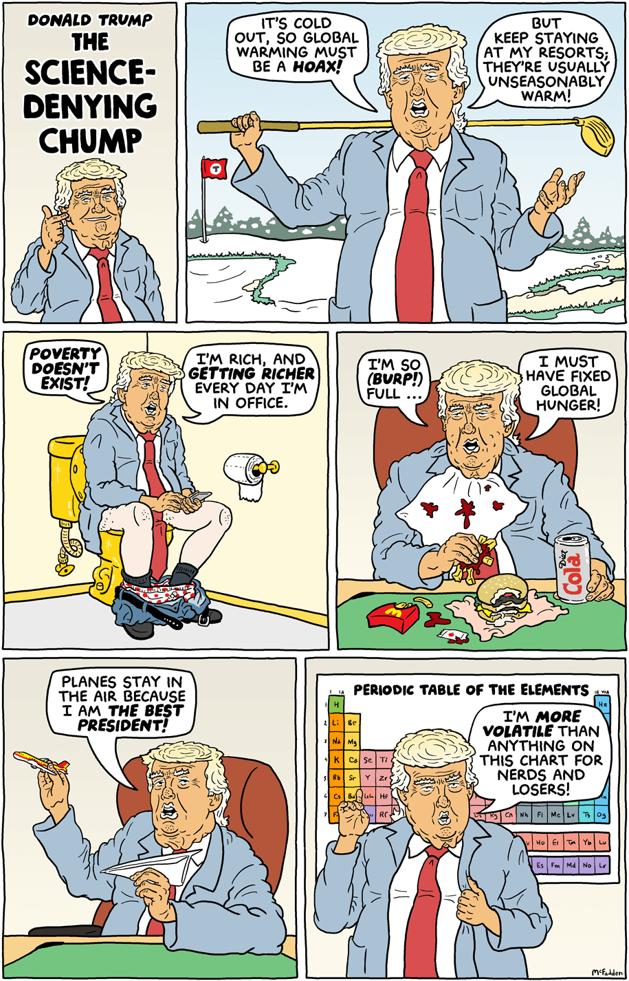 Cartoon: The science-denying chump