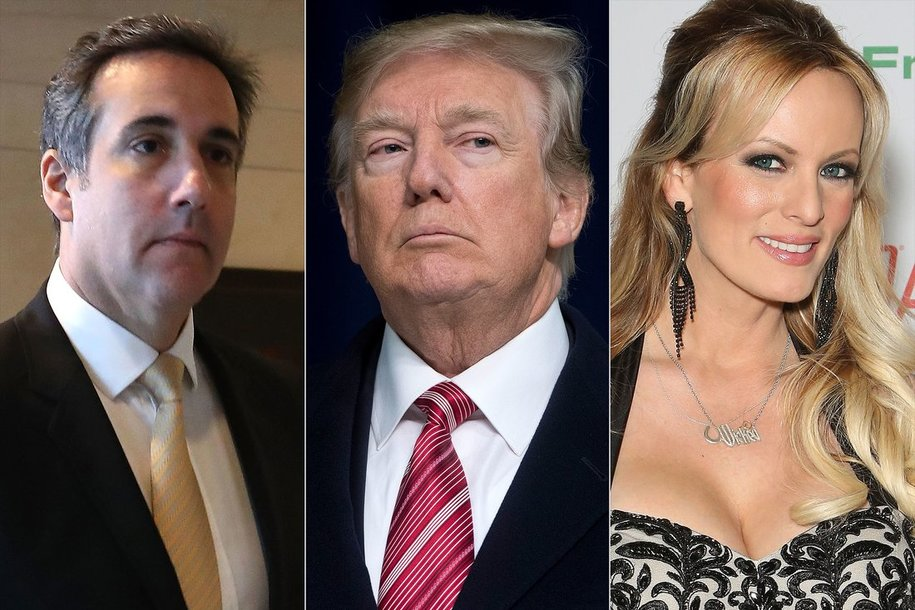 Image result for cartoons about trump stormy daniels michael cohen