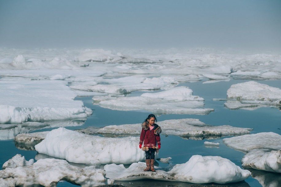 Evidence of rapid climate change in the Arctic as permafrost erosion transforms the Arctic food web