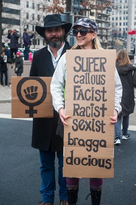 WASHINGTON, DC. - JAN. 21: Organizers put the Women's March on Washington in Washington D.C. on Saturday Jan. 21, 2017. (Photo by Alanna Vagianos, Huffington Post) *** Local Caption ***