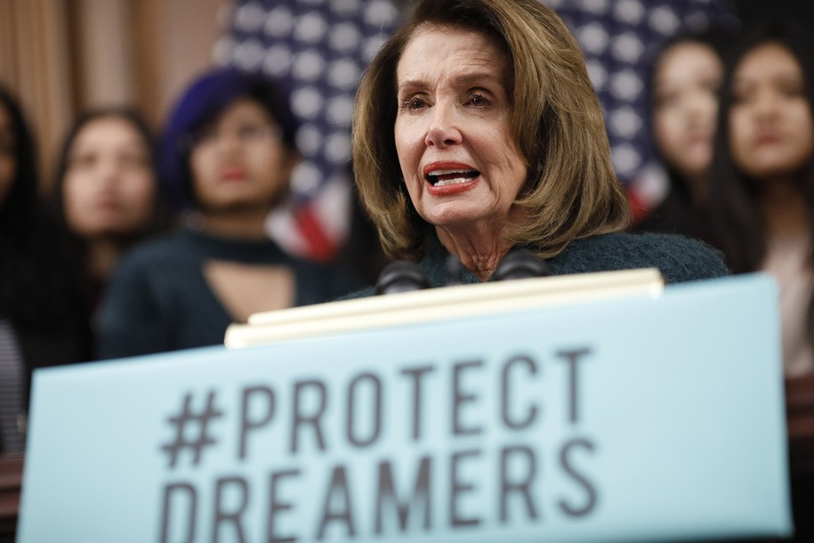 nancy pelosi holds the floor on behalf of dreamers. Black Bedroom Furniture Sets. Home Design Ideas