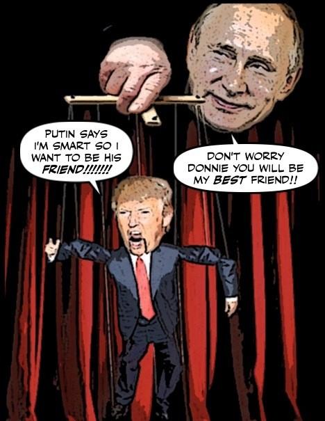 Image result for trump putin puppet