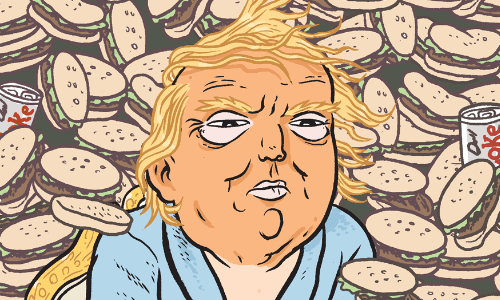 Cartoon by Matt Bors - Trump's presidential portrait