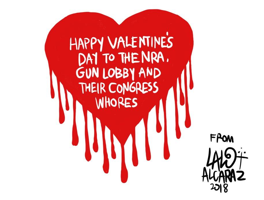 Cartoon: Happy Valentines Day you animals