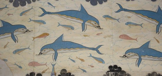 Fresco Of Dolphins Knossos Borrowed From Etcancienteu