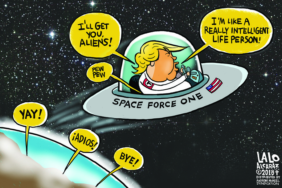 Image result for Space force cartoons