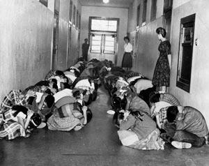 Atomic Bomb Drill Students