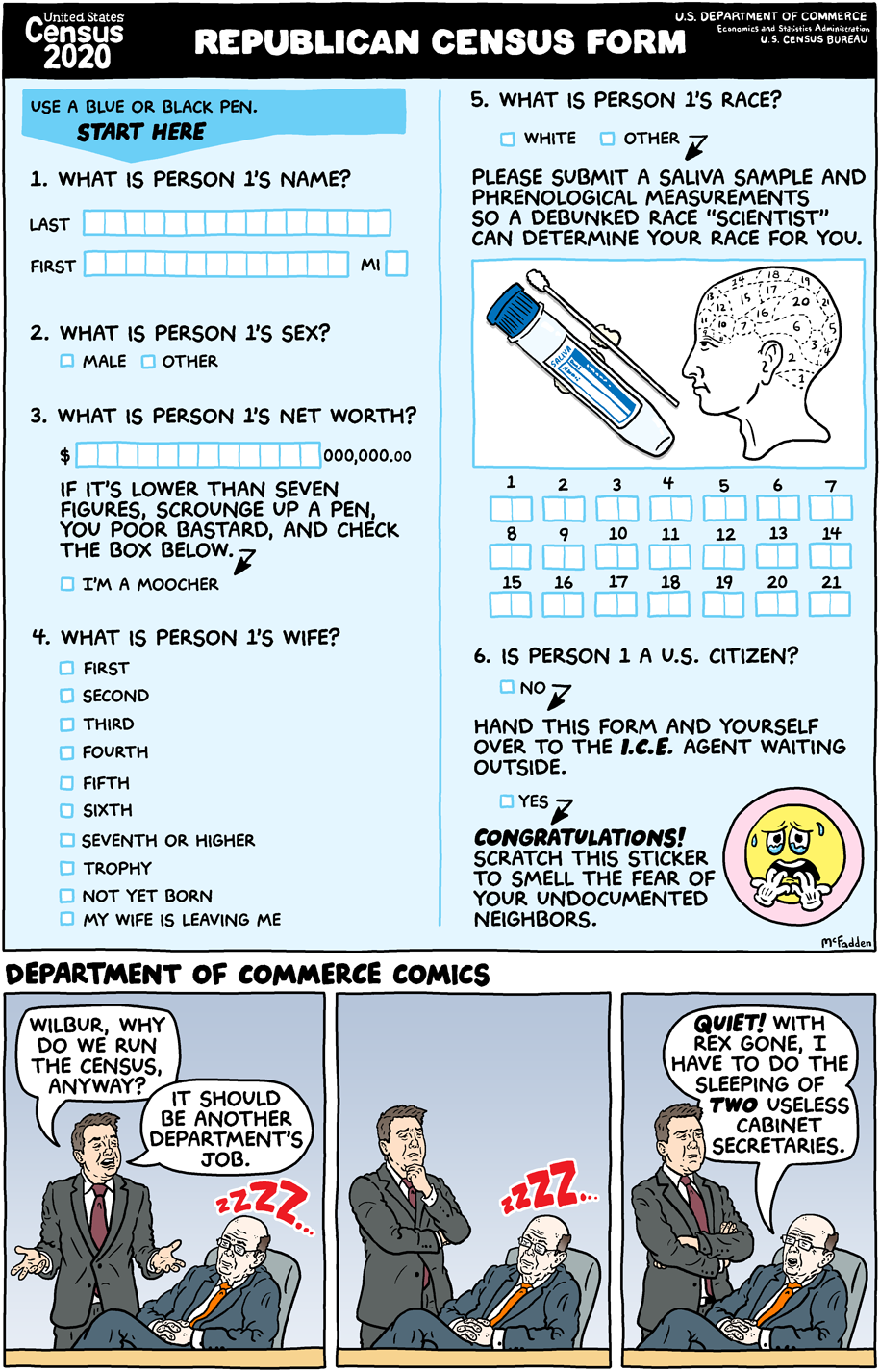 Cartoon: Republican census form