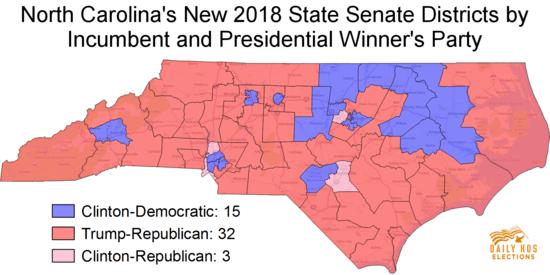 Thanks to backdoor GOP gerrymander, North Carolina's new ... on 2008 senate map, new york senate elecction map, 2012 senate races map, 2010 ny districts map, 2015 senate map, ca gop map, democrat population map, election map, 2012 battleground map,
