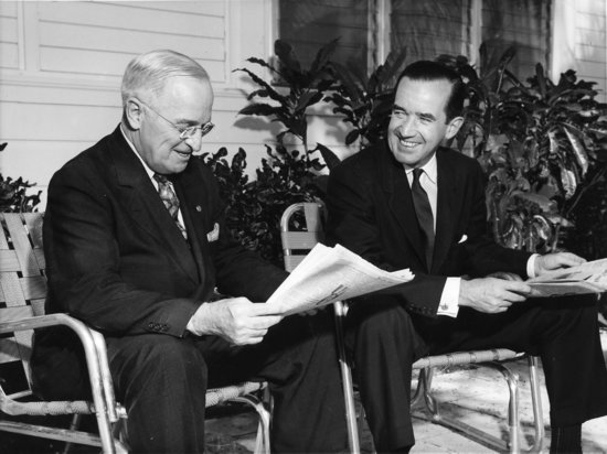 Edward R. Murrow with President Harry S Truman