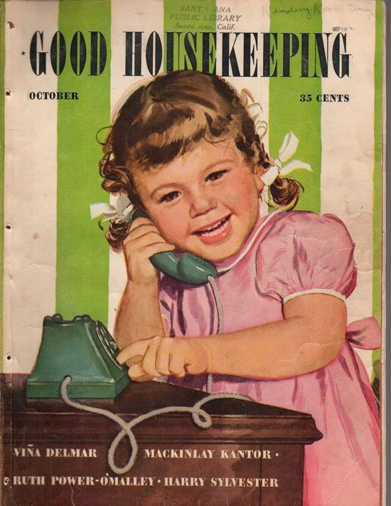 Cover of Good Housekeeping from 1940s or 50s.