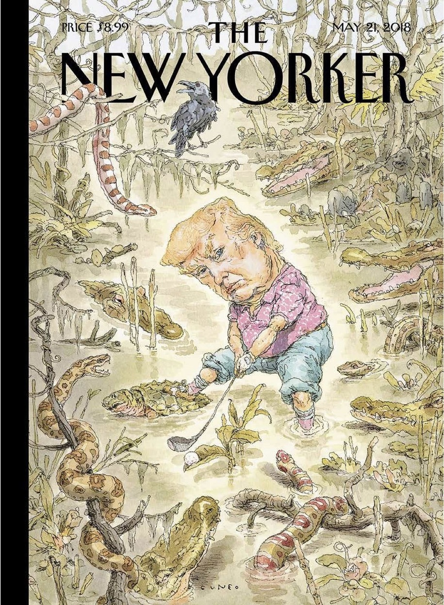 Image result for new yorker cover the swamp