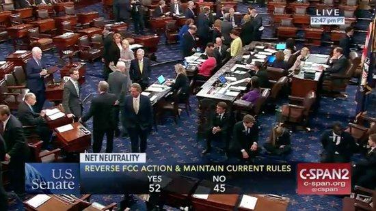 Senate vote on net neutrality May 16, 2018