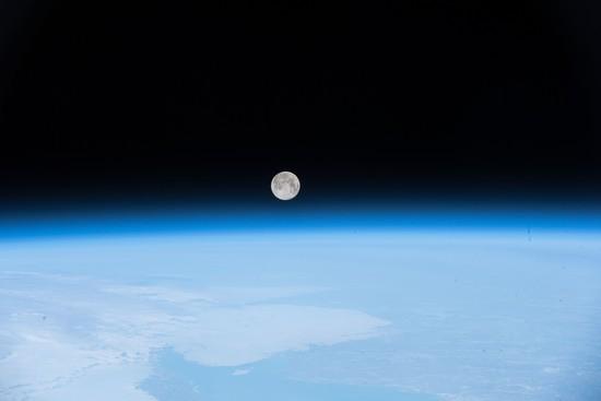 Full moon over Nova Scotia